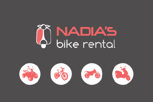 Nadia's bike rental Corfu